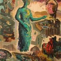 Dialogue. Oil on canvas 120 x 100 cm. 2017