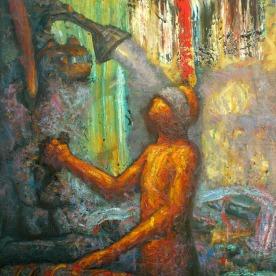 Descent. Oil on canvas 120 x 100 cm. 2013