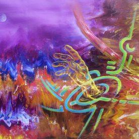 Telluric intensity. Oil on canvas 70 x 90 cm. 2007